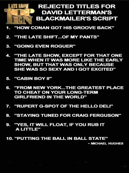 Letterman Top Ten Blackmail List for website